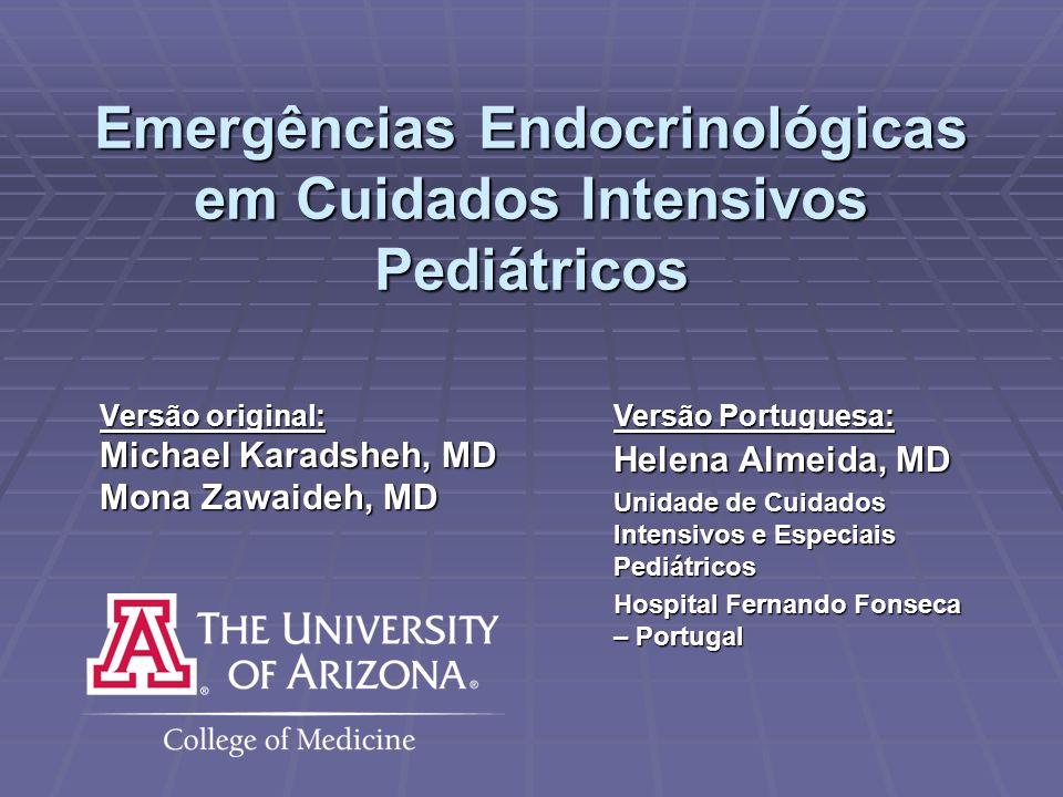 Emergências Endocrinológicas em Cuidados Intensivos Pediátricos