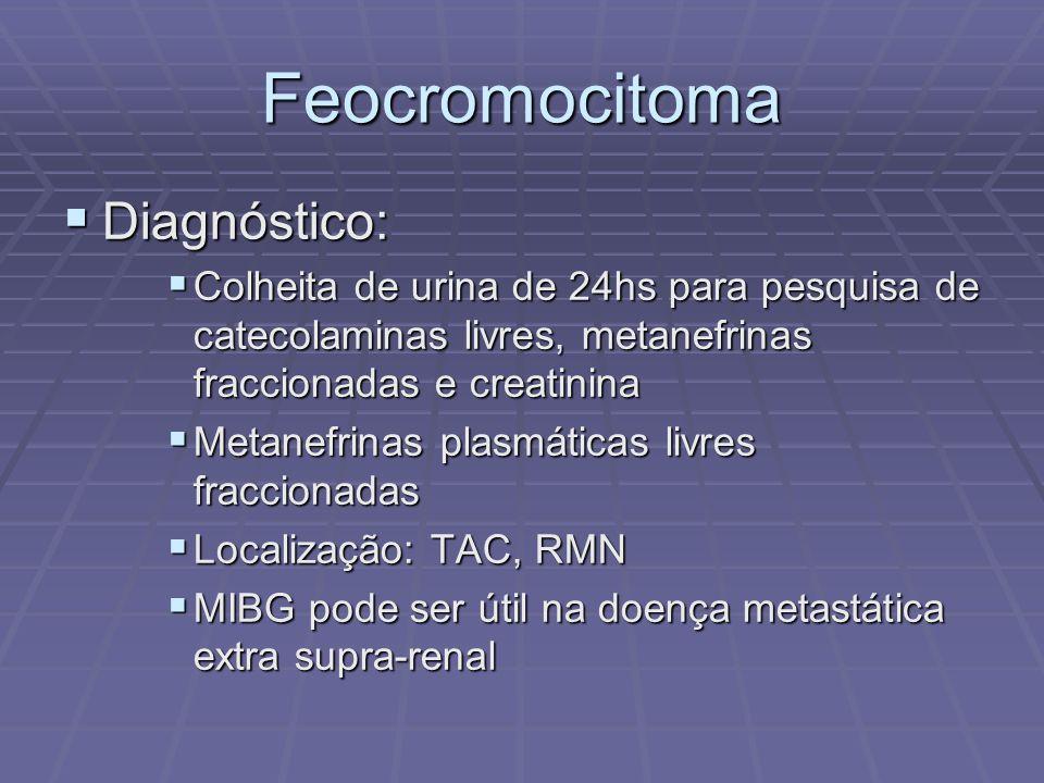 Feocromocitoma Diagnóstico: