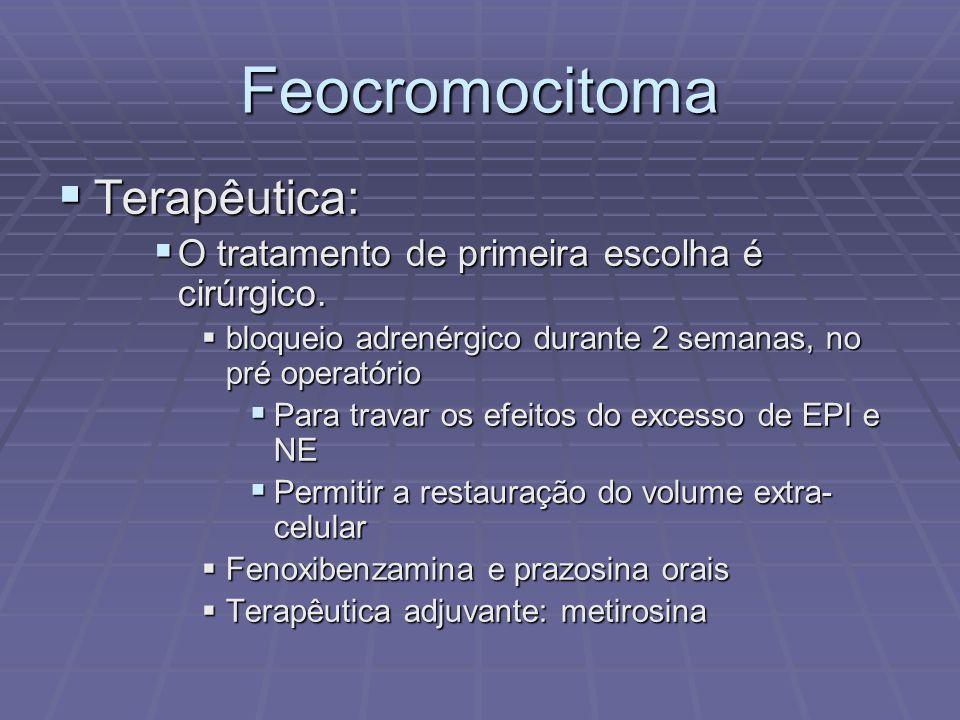 Feocromocitoma Terapêutica: