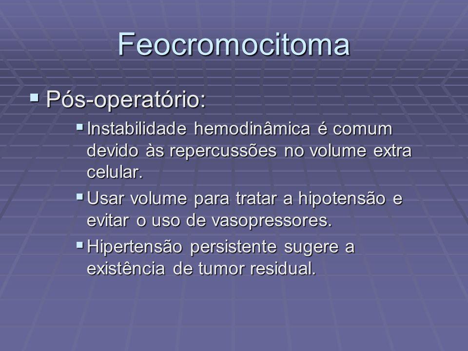 Feocromocitoma Pós-operatório: