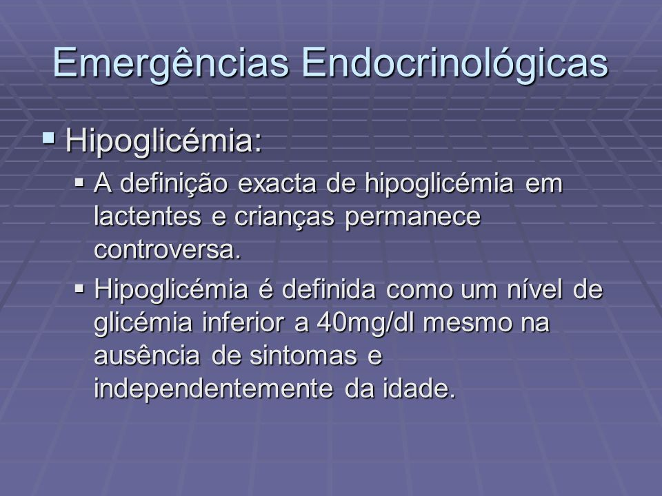 Emergências Endocrinológicas