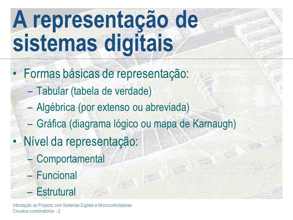 A representação de sistemas digitais