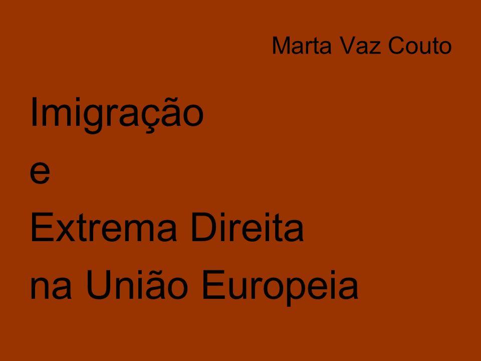 Marta Vaz Couto Imigração e Extrema Direita na União Europeia