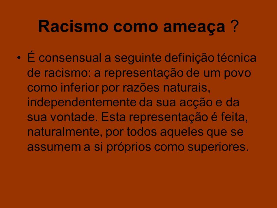 Racismo como ameaça