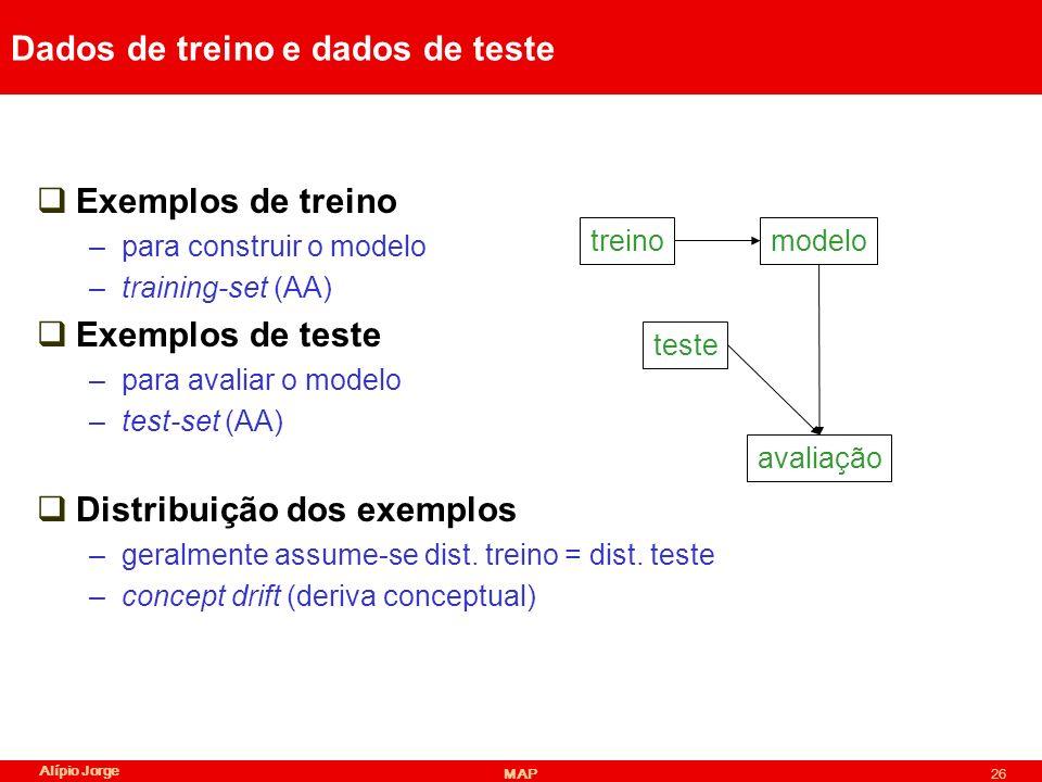 Dados de treino e dados de teste