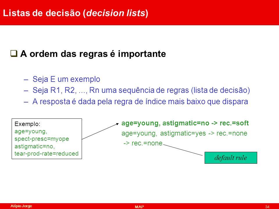 Listas de decisão (decision lists)