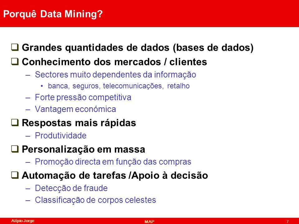 Grandes quantidades de dados (bases de dados)
