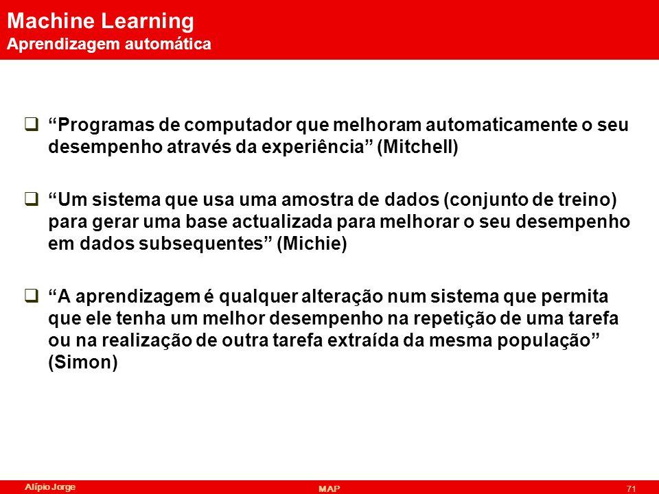 Machine Learning Aprendizagem automática