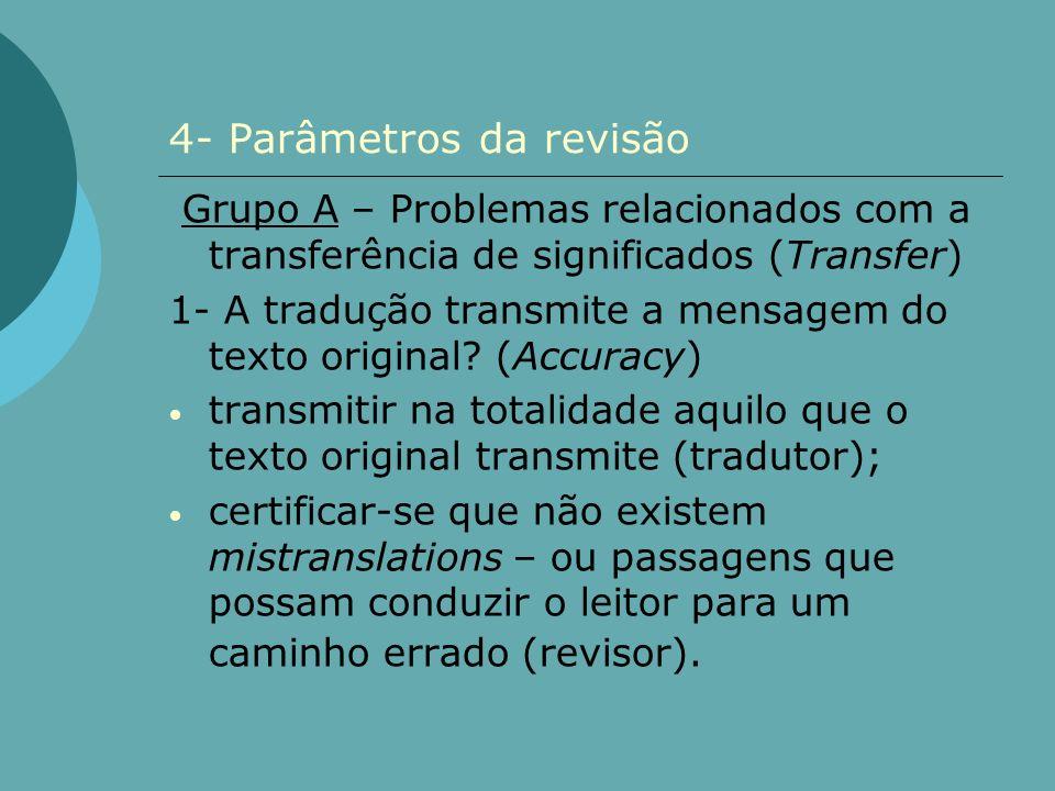 4- Parâmetros da revisão