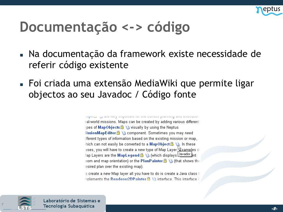 Documentação <-> código