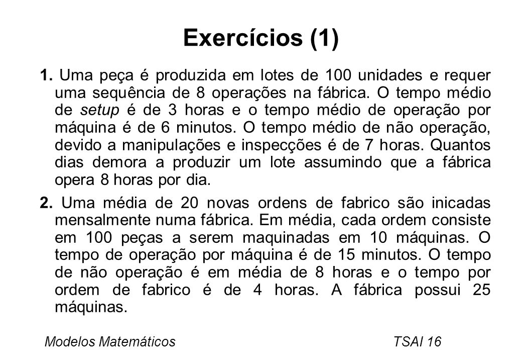 Exercícios (1)