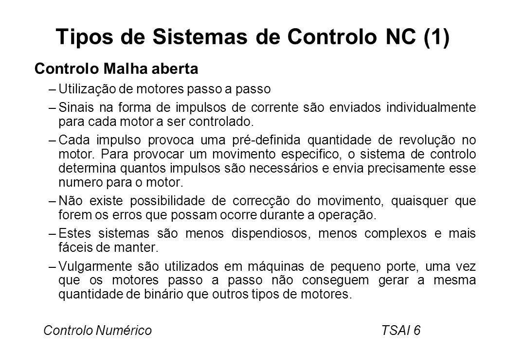 Tipos de Sistemas de Controlo NC (1)