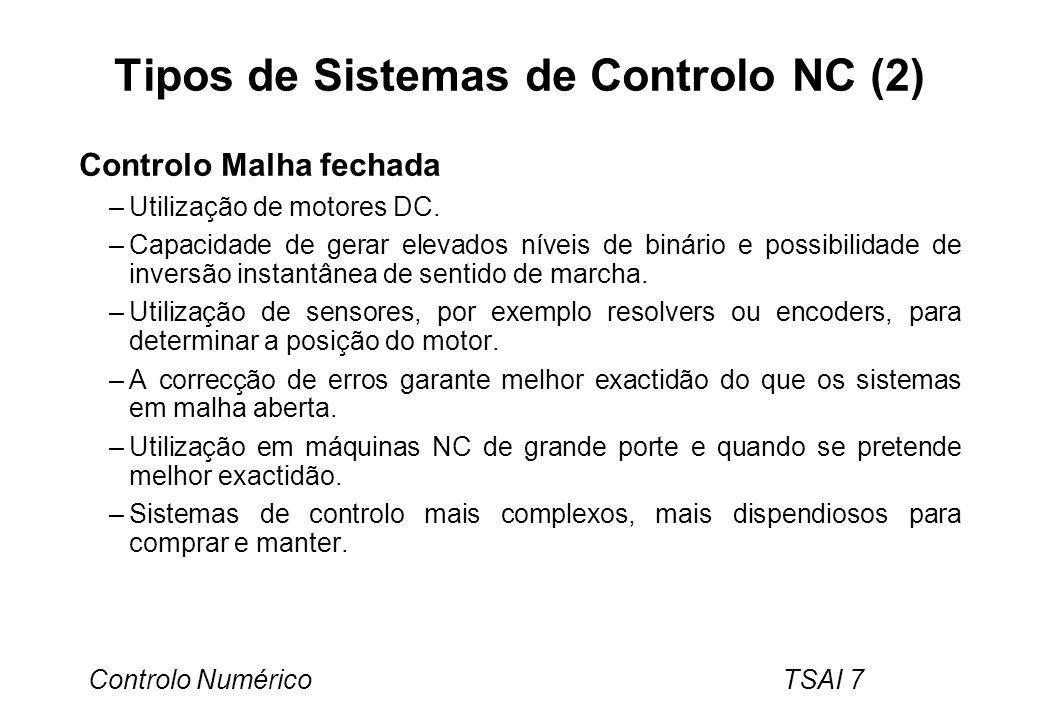 Tipos de Sistemas de Controlo NC (2)
