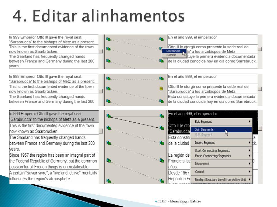 4. Editar alinhamentos FLUP - Elena Zagar Galvão