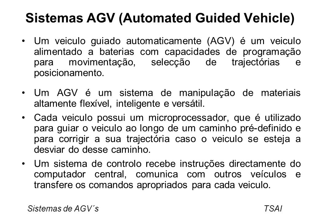 Sistemas AGV (Automated Guided Vehicle)