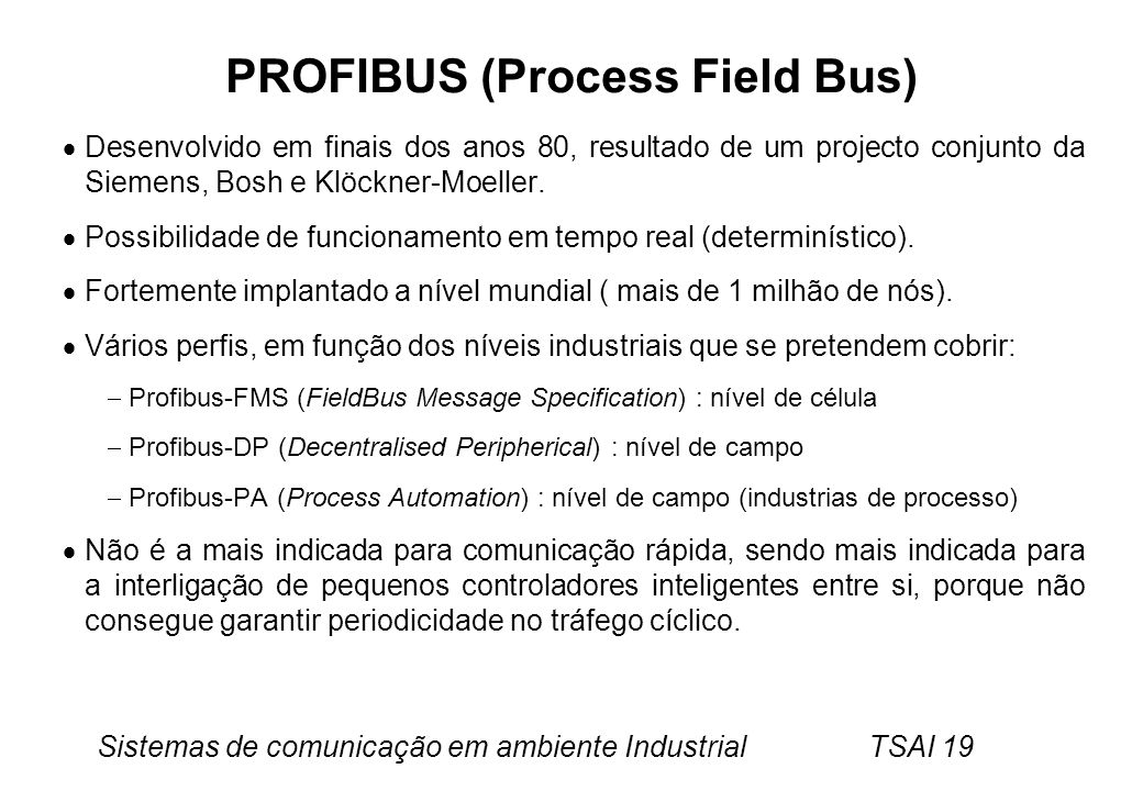 PROFIBUS (Process Field Bus)
