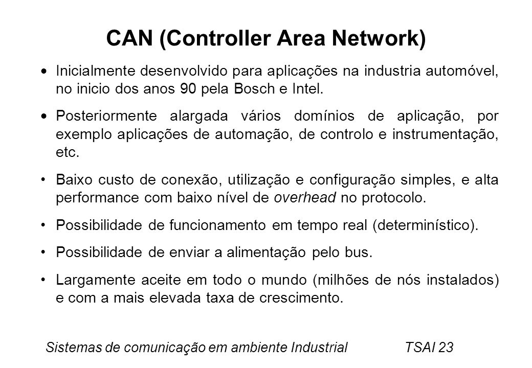 CAN (Controller Area Network)