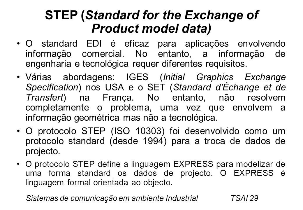 STEP (Standard for the Exchange of Product model data)