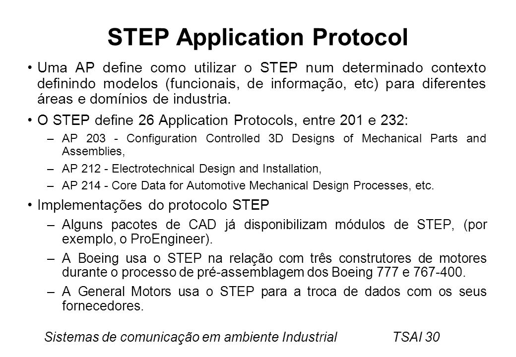 STEP Application Protocol