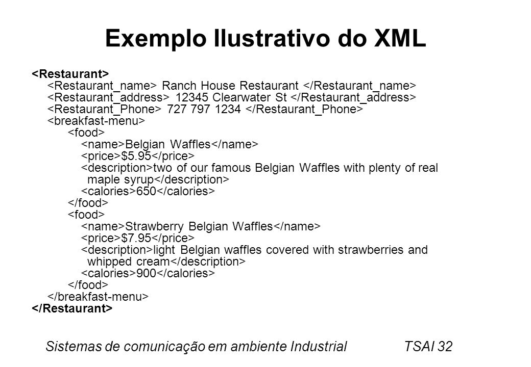 Exemplo Ilustrativo do XML
