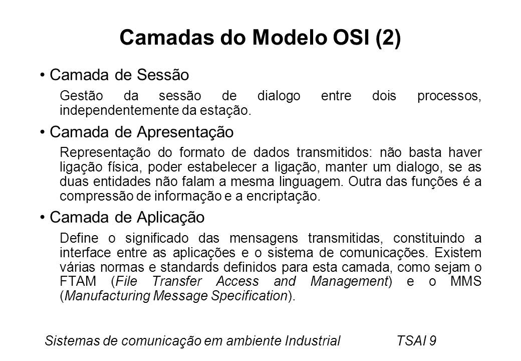 Camadas do Modelo OSI (2)