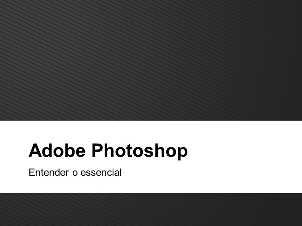 Adobe Photoshop Entender o essencial
