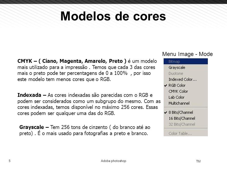 Modelos de cores Menu Image - Mode