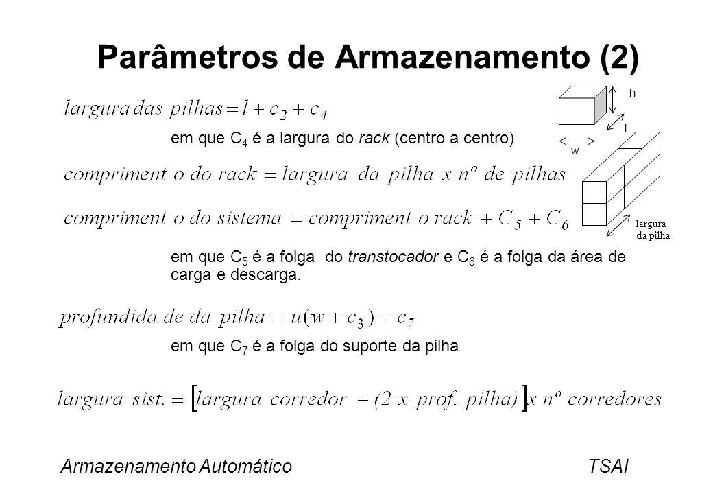 Parâmetros de Armazenamento (2)