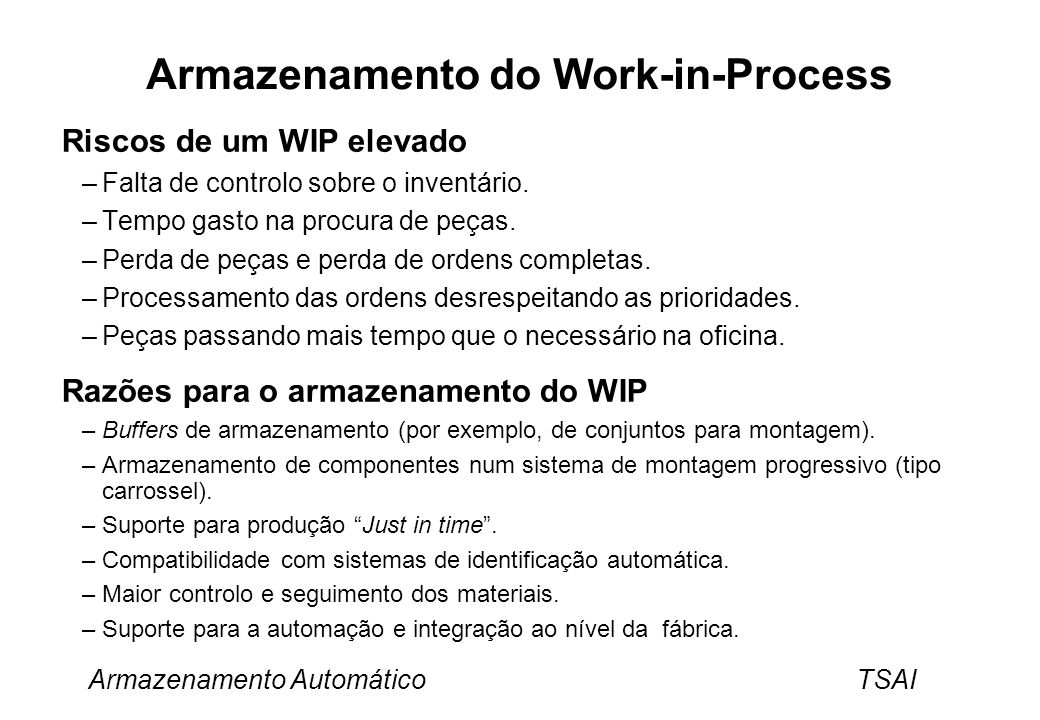 Armazenamento do Work-in-Process