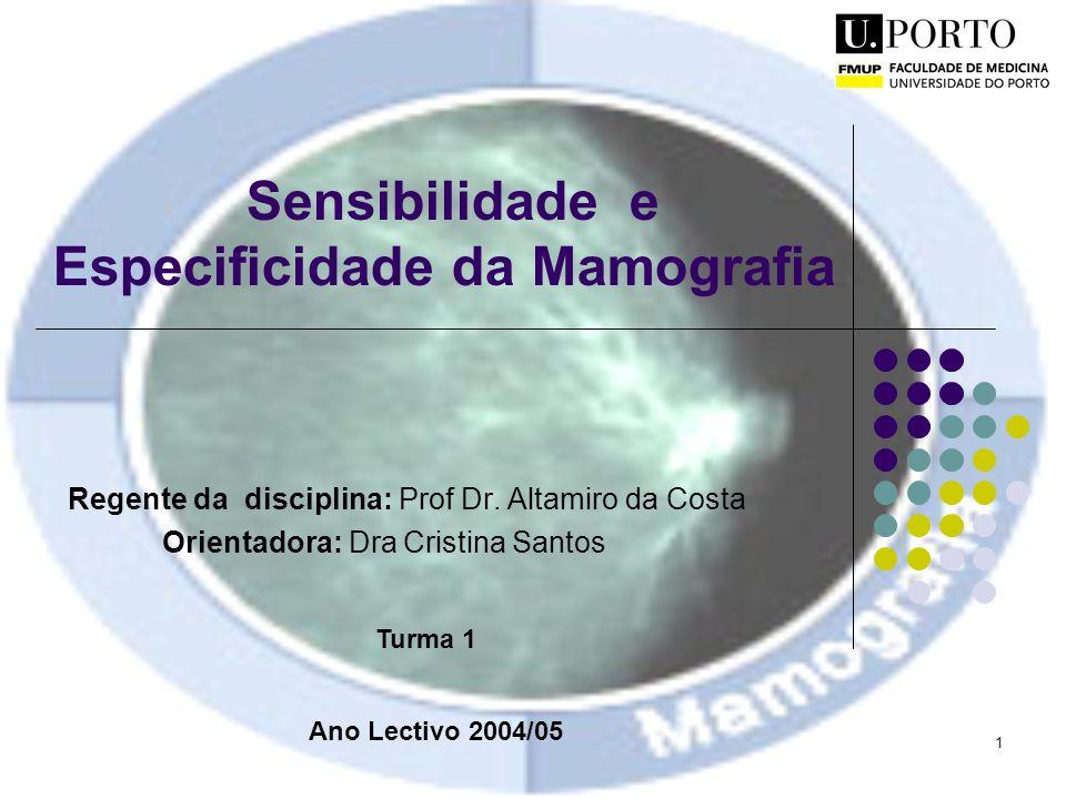 Sensibilidade e Especificidade da Mamografia