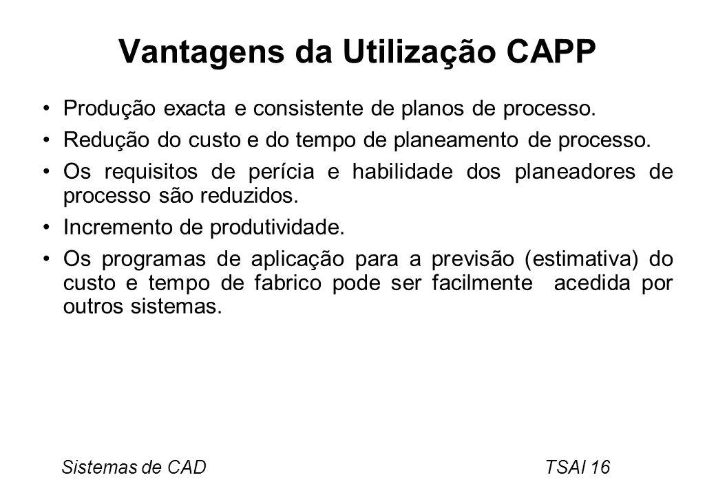 Vantagens da Utilização CAPP