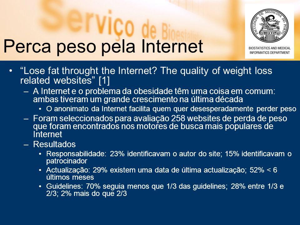 Perca peso pela Internet