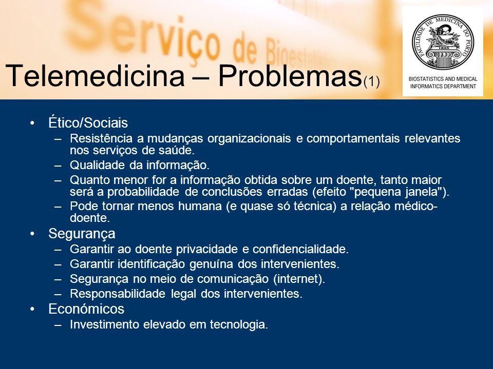 Telemedicina – Problemas(1)