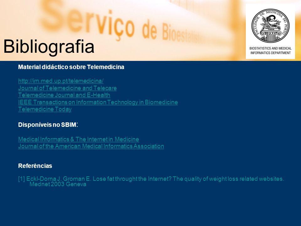Bibliografia Material didáctico sobre Telemedicina