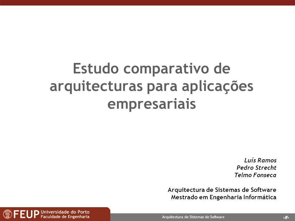 Estudo comparativo de arquitecturas para aplicações empresariais
