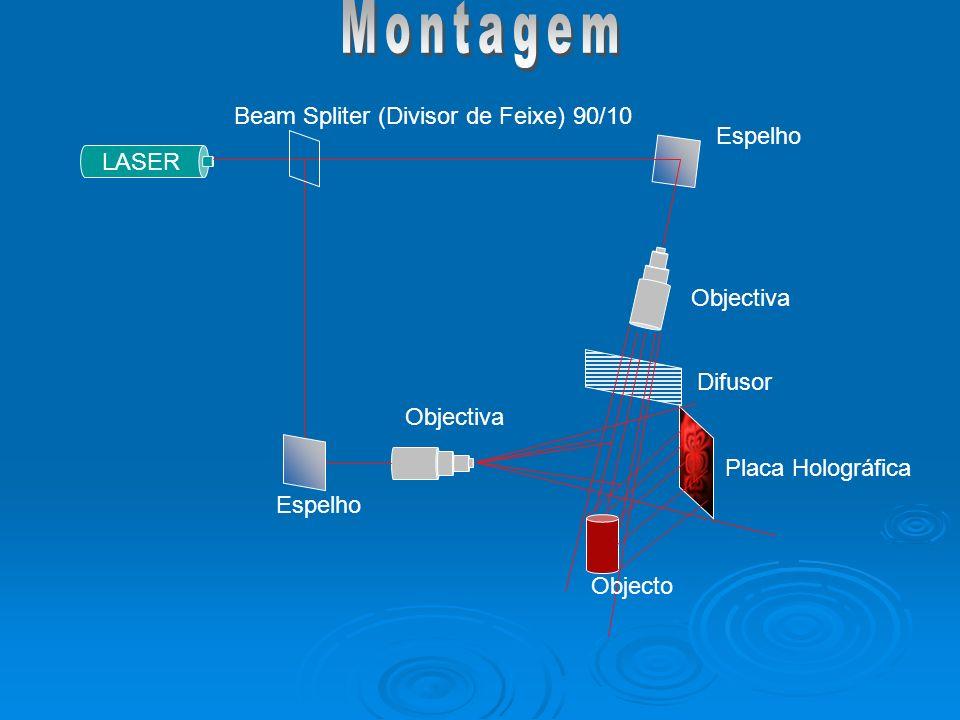Montagem Beam Spliter (Divisor de Feixe) 90/10 Espelho LASER Objectiva