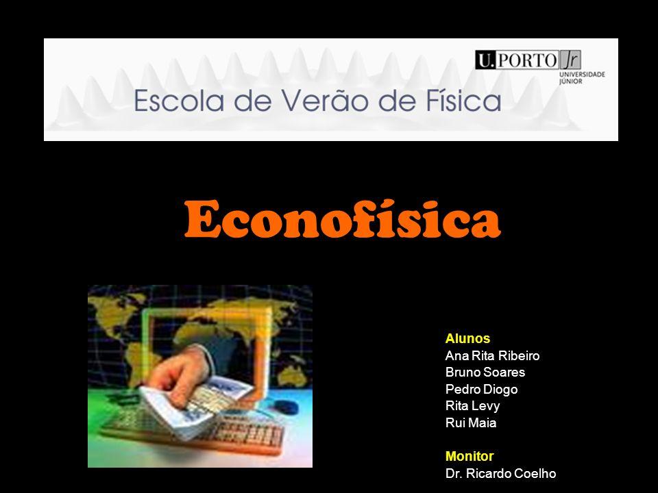 Econofísica Alunos Ana Rita Ribeiro Bruno Soares Pedro Diogo Rita Levy