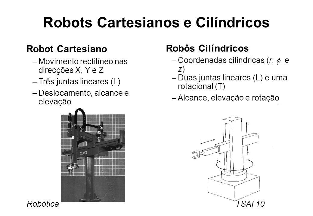Robots Cartesianos e Cilíndricos