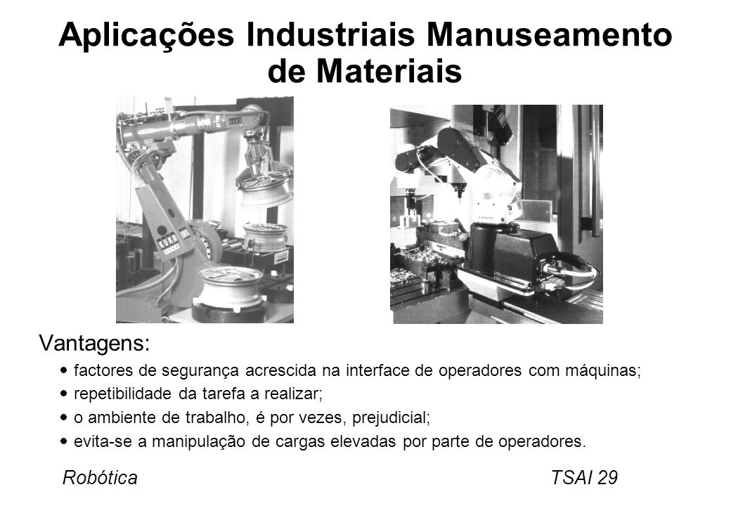 Aplicações Industriais Manuseamento de Materiais
