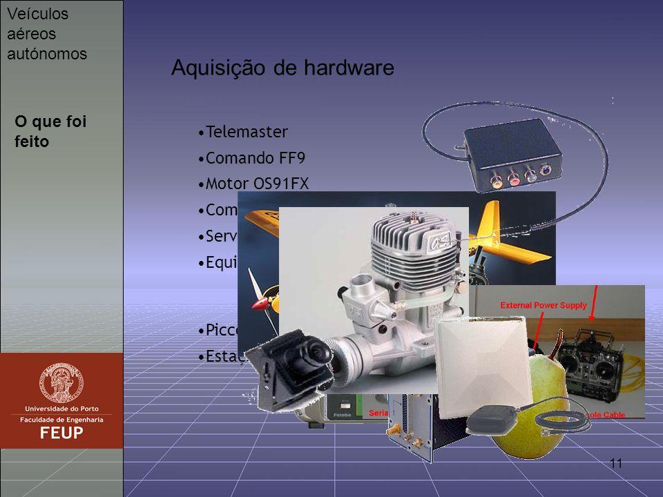 Aquisição de hardware Veículos aéreos autónomos O que foi feito