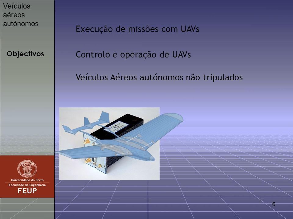Execução de missões com UAVs