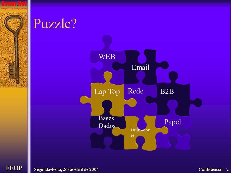 Puzzle WEB Email Rede Lap Top B2B Papel Bases Dados FEUP Utilizadores