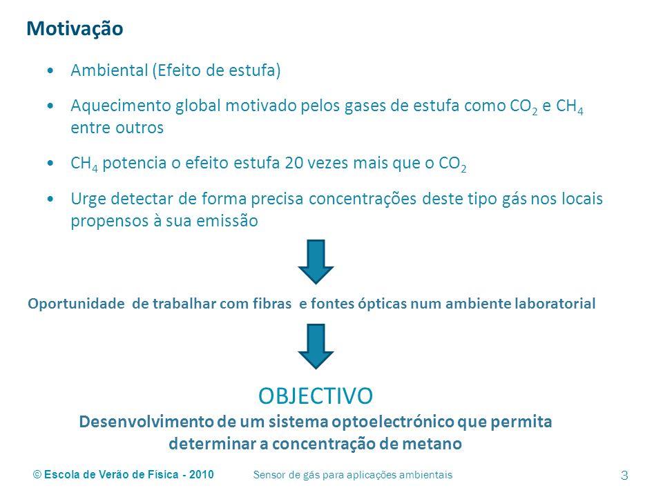 Sensor de gás para aplicações ambientais