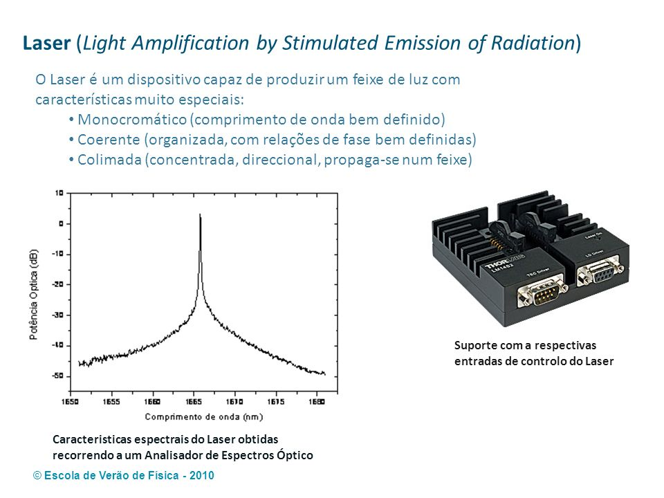 Laser (Light Amplification by Stimulated Emission of Radiation)