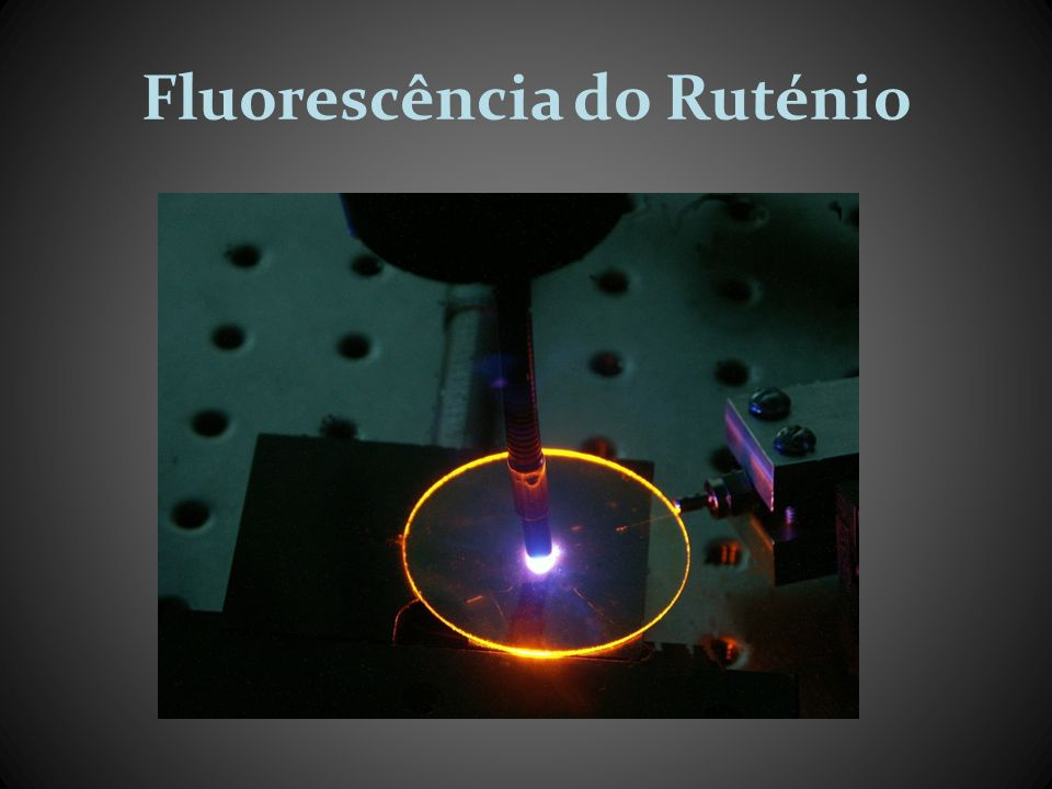 Fluorescência do Ruténio