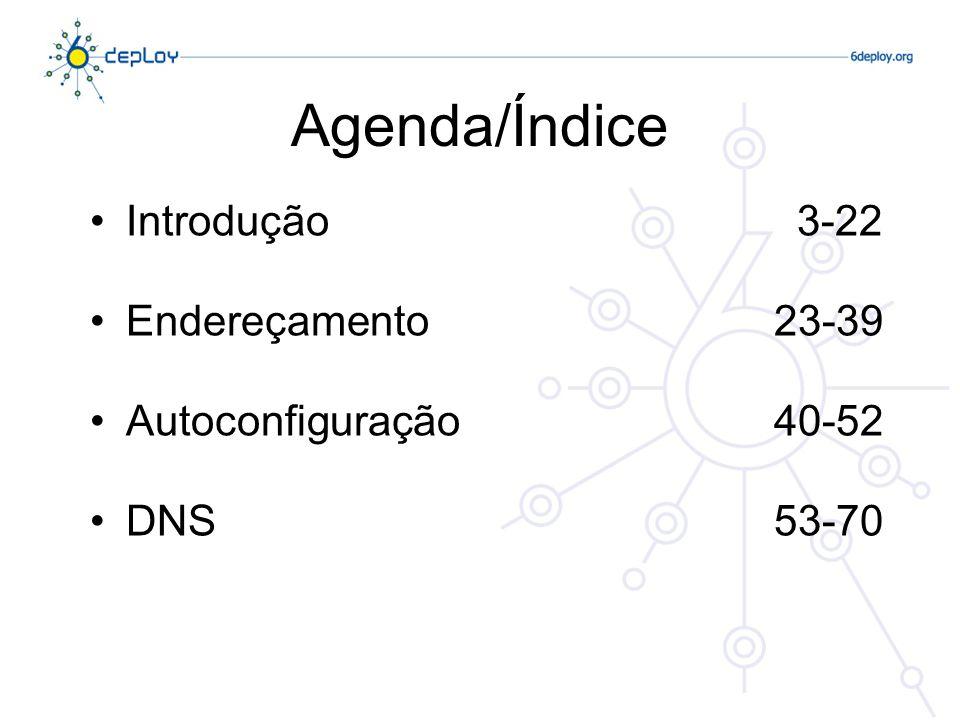 Agenda/Índice Introdução 3-22 Endereçamento 23-39