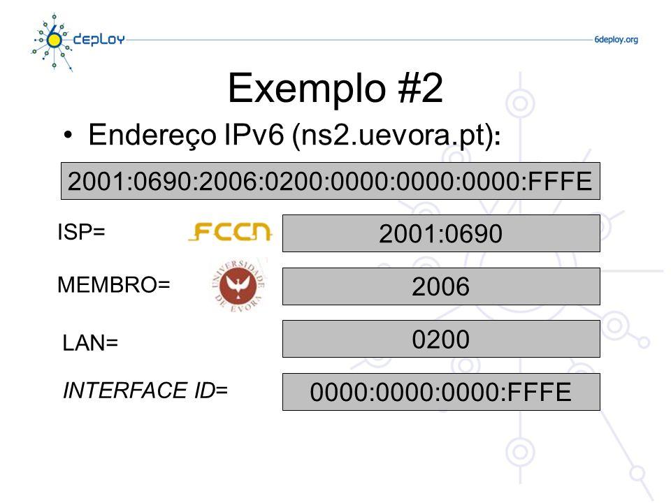 Exemplo #2 Endereço IPv6 (ns2.uevora.pt):