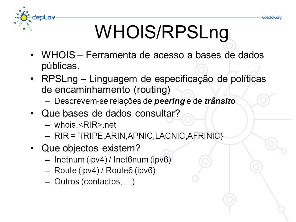 WHOIS/RPSLng WHOIS – Ferramenta de acesso a bases de dados públicas.