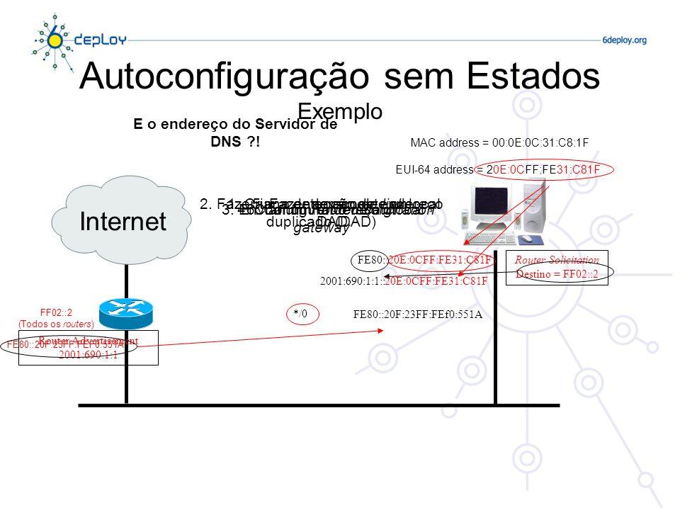 Autoconfiguração sem Estados Exemplo