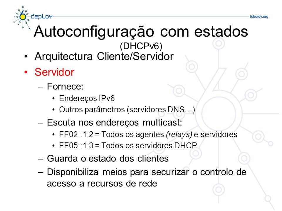 Autoconfiguração com estados (DHCPv6)